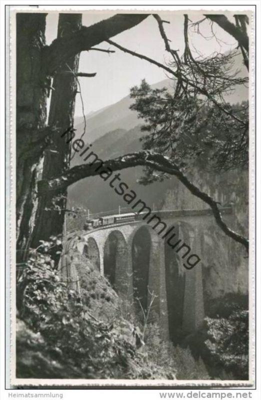 Landwasser Viadukt bei Filisur - Eisenbahn - Foto-AK