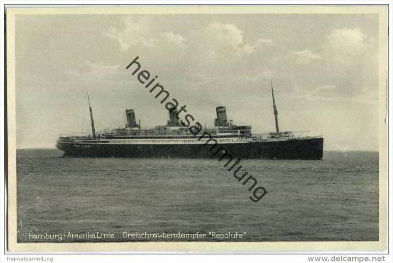 Hamburg-Amerika-Linie - Dreischraubendampfer Resolute