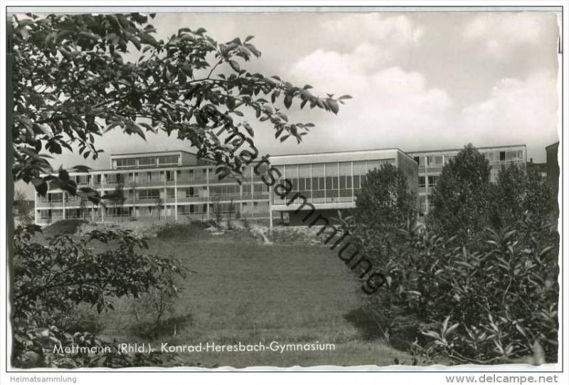 Mettmann - Konrad-Heresbach-Gymnasium - Foto-AK
