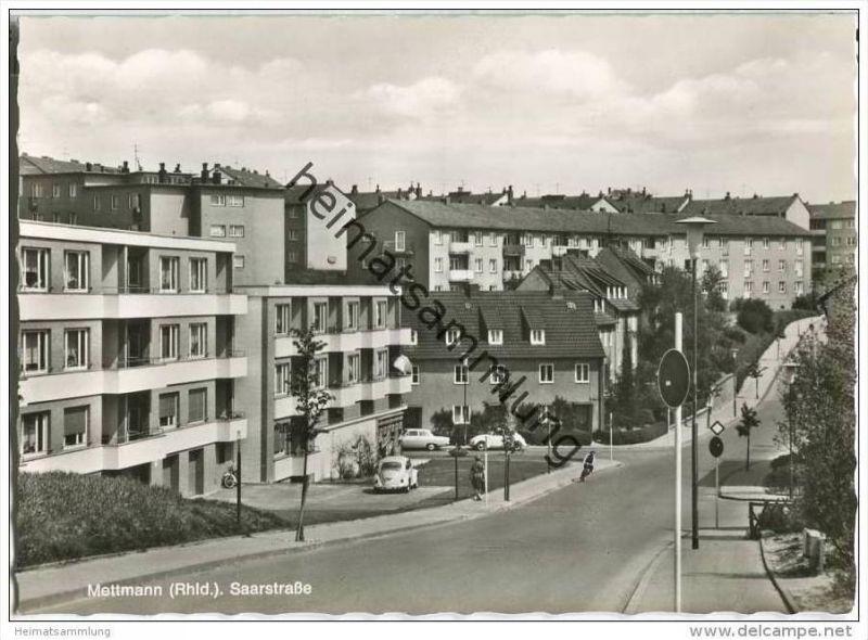Mettmann - Saarstrasse - Foto-AK-Grossformat