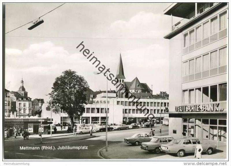 Mettmann - Jubiläumsplatz - Sparkasse - Deutsche Bank - Foto-AK-Grossformat