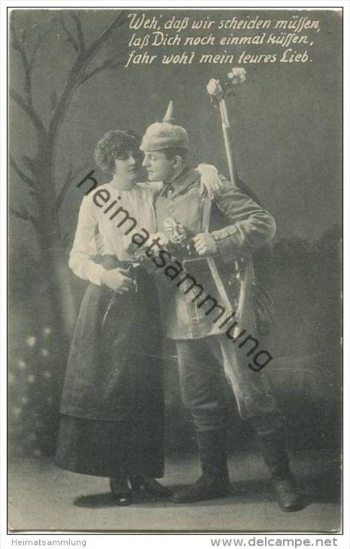 Soldaten   Abschied   Feldpost   Spruch Nr. 600158839   oldthing