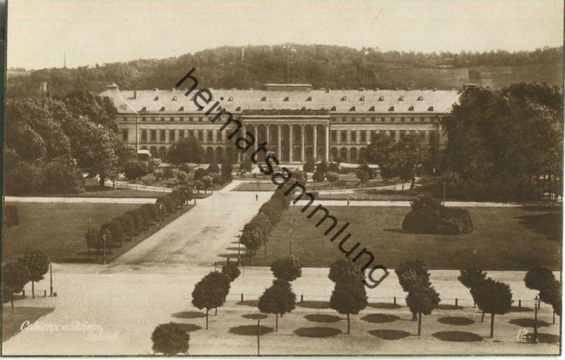Coblenz - Schloss - Foto-Ansichtskarte - Verlag Trinks & Co. GmbH Leipzig 20er Jahre