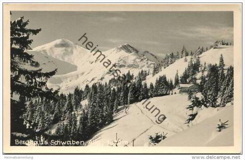 Berghaus Schwaben im Allgäu - Foto-AK - Verlag K. H. Feldmann Bolsterlang