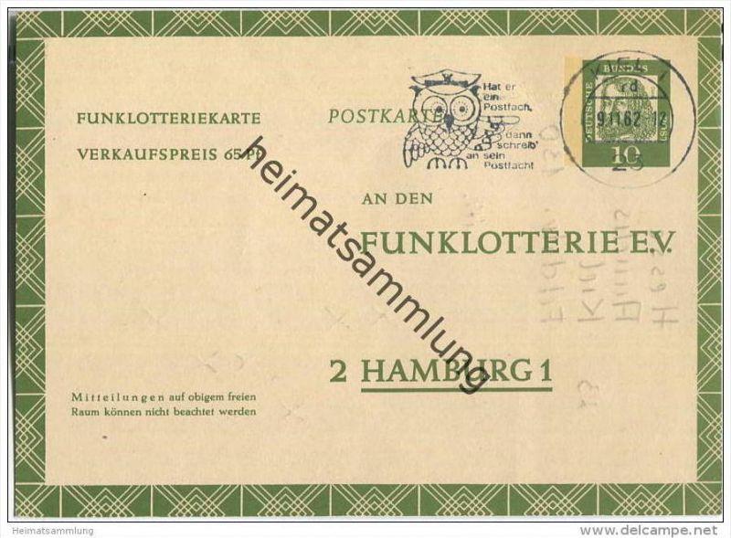 Bund - Funklotteriekarte 10 Pfg. Albrecht Dürer - gelaufen 1962