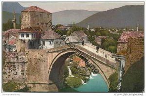 Mostar - Moctap - Römerbrücke - Radobolja-Wasserfälle - Verlag Pacher & Kisic Mostar 20er Jahre