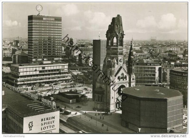 Berlin - Europa-Center mit Kaiser-Wilhelm-Gedächtniskirche - Foto-AK Grossformat gel. 1966