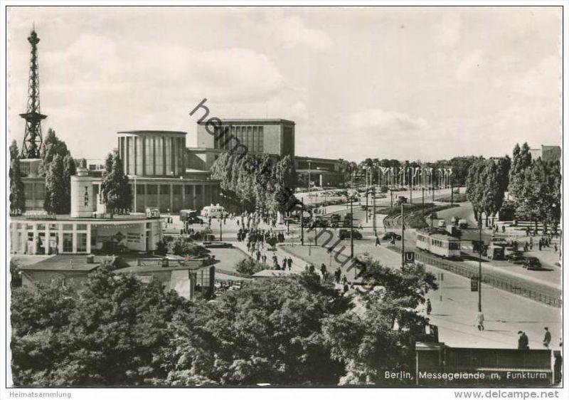Berlin - Messegelände mit Funkturm - Foto-AK Grossformat - Verlag Kunst und Bild Berlin