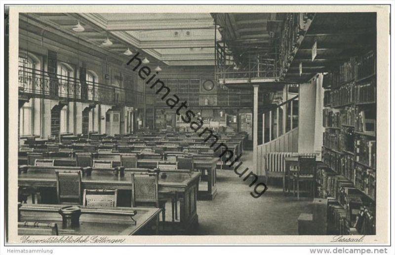 Göttingen - Universitätsbibliothek - Lesesaal