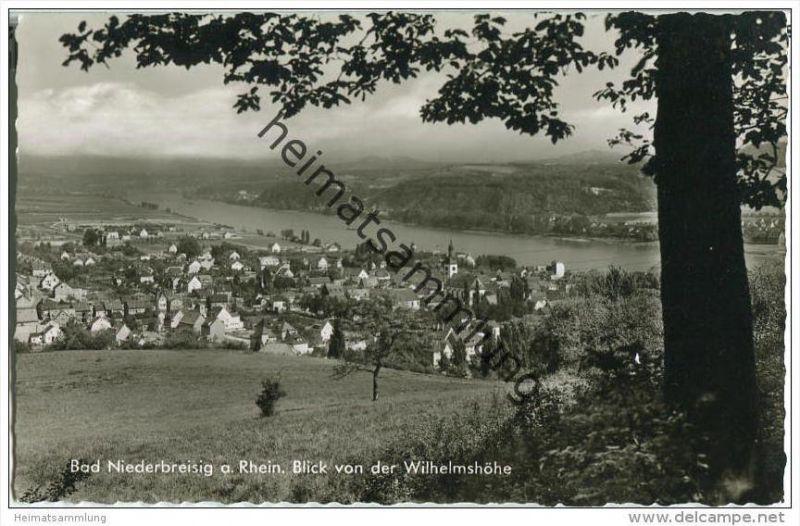 Bad Niederbreisig - Blick von der Wilhelmshöhe - Foto-AK