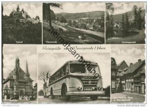 Wernigerode - IFA Bus mit Anhänger - Foto-AK