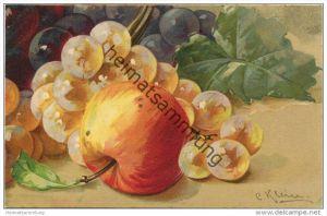 Stilleben - Weintrauben - Apfel - Catharina C. Klein - Verlag G. O. M. 2175