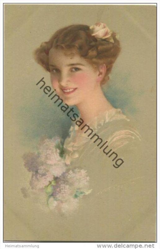 Junge Frau mit blondem Haar - Ludwig Knoefel - Verlag M. Munk Wien Nr. 1002