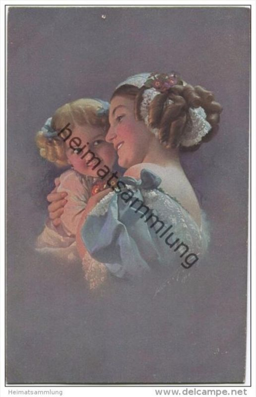 Junge Frau mit kleinem Mädchen - Ludwig Knoefel - Verlag Novitas GmbH Berlin Nr. 20888