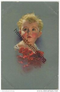 Kleines Kind mit Blumen - Ludwig Knoefel - Verlag Novitas GmbH Berlin gel. 1923