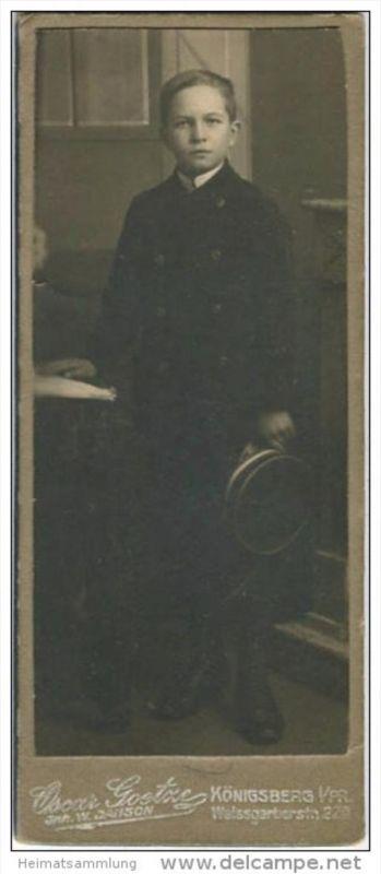 Kabinettfoto - Atelier Oskar Gortze Inhaber W. Janson Königsberg i/Pr. Weissgerberstrasse 22a