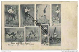 Erich und Alfred Schieritz - Deuben bei Dresden - Fahrrad - Akrobat