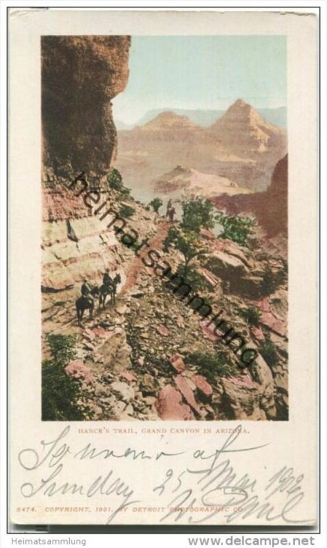 Arizona - Hance's Trail - Grand Canyon of the Colorado River - Privat Mailing Card