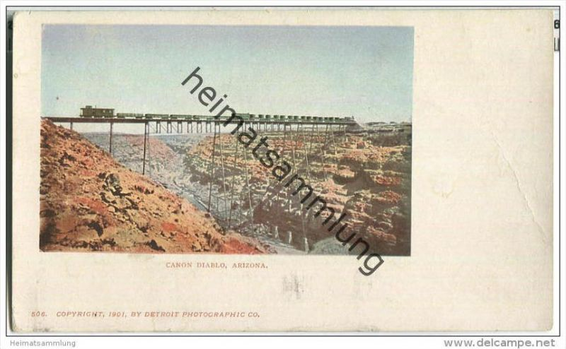 Arizona - Canon Diabolo - Eisenbahn - Privat Mailing Card
