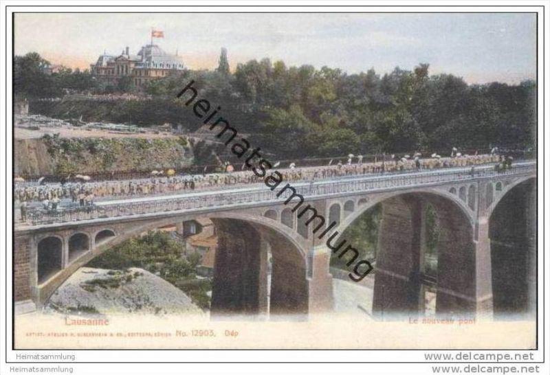 Lausanne - Le nouveau pont 1905