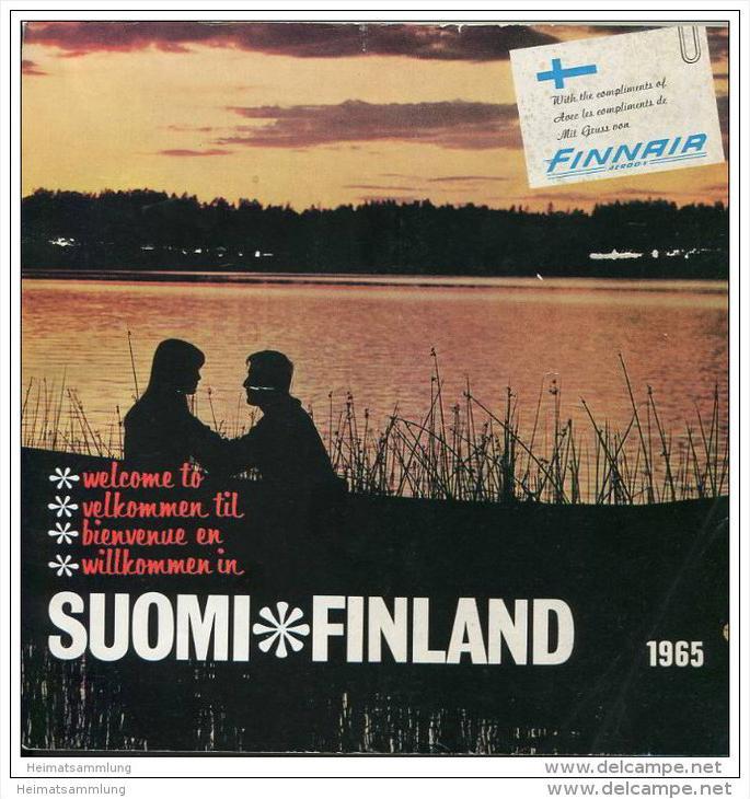 Finnland 1965 - Broschüre mit einem Vorwort vom President of Finnair - 136 Seiten mit unzähligen Abbildungen