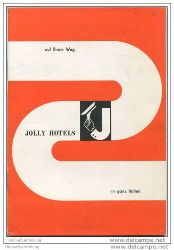 Italien 1961 - Verzeichnis aller Jolly Hotels in Italien - 80 Seiten mit vielen Abbildungen