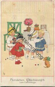 Herzlichen Glückwunsch zum Geburtstage - signiert Lia Döring - Verlag Meissner & Buch - Soldatenbrief