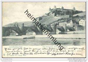 Würzburg - Alte Mainbrücke - Festung und Käppele