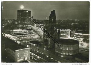 Berlin - Gedächtniskirche - Europa-Center - Foto-AK Nachtaufnahme