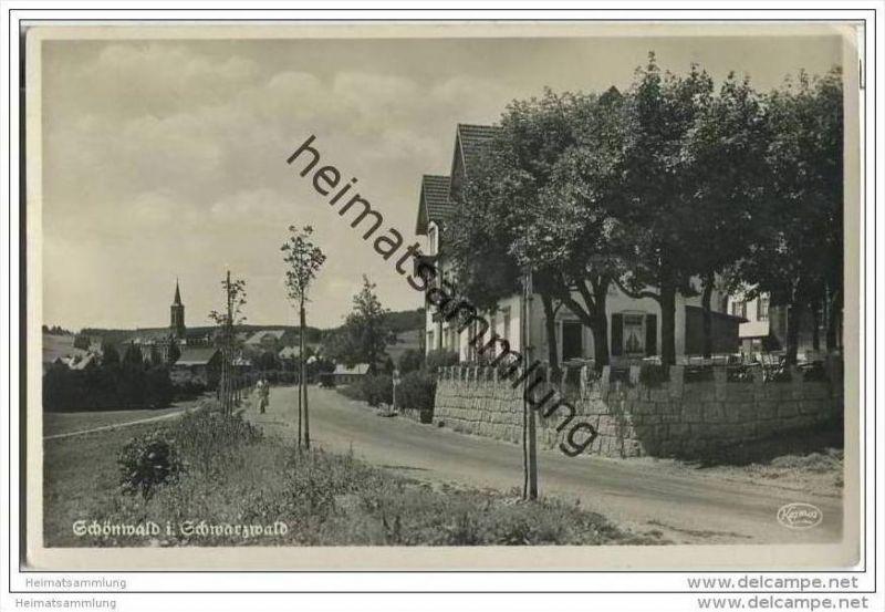 78141 Schönwald im Schwarzwald - Foto-AK 30er Jahre