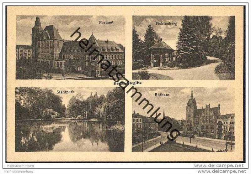 Berlin-Steglitz - Postamt - Fichteberg - Stadtpark - Rathaus