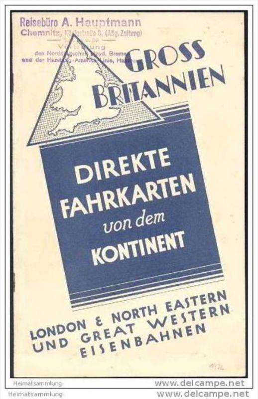 Grossbritannien 1932 - Direkte Fahrkarten von dem Kontinent - London & North Eastern und Great Western Eisenbahnen