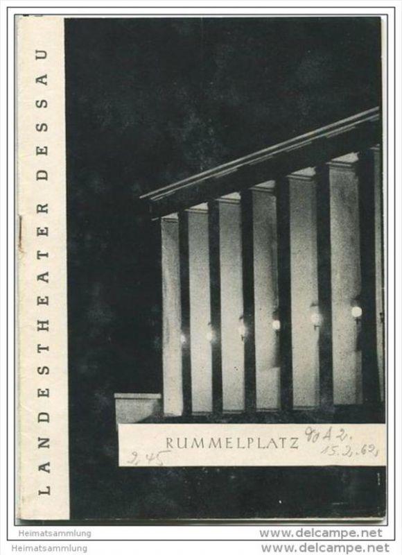Landestheater Dessau - Spielzeit 1962 Nummer 2 - Rummelplatz von Evan Maccoll - Ewald Zischka - Peter Kühle