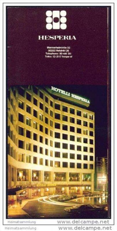 Helsinki - Hotel Hesperia 60er Jahre - Faltblatt mit 12 Abbildungen