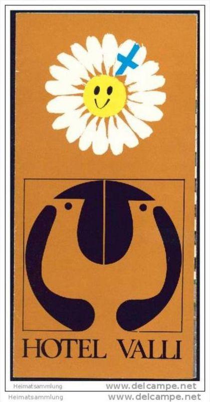 Helsinki - Hotel Valli 1968 - Faltblatt mit 4 Abbildungen