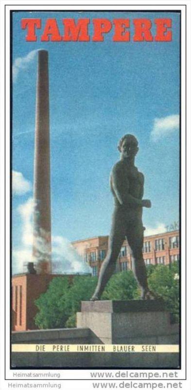 Tampere  60er Jahre - Faltblatt mit 12 Abbildungen