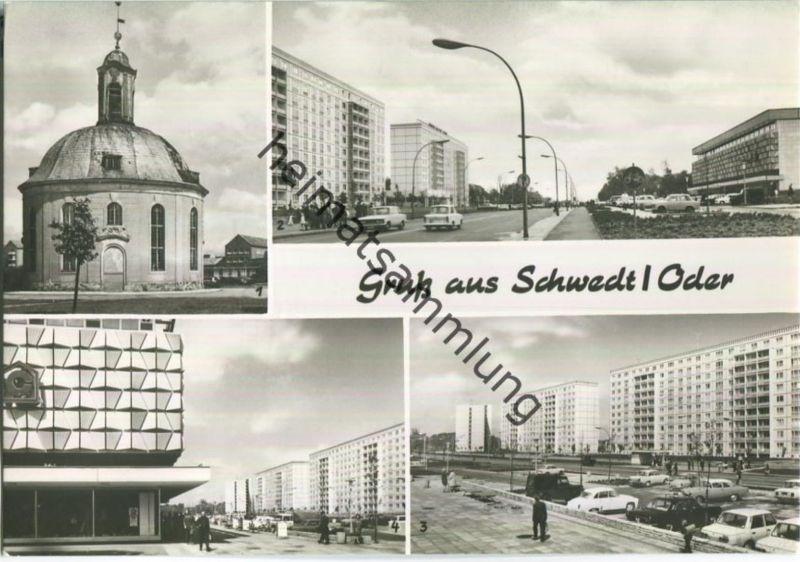 Schwedt - Französische Kapelle - Leninallee - Verlag Bild und Heimat Reichenbach
