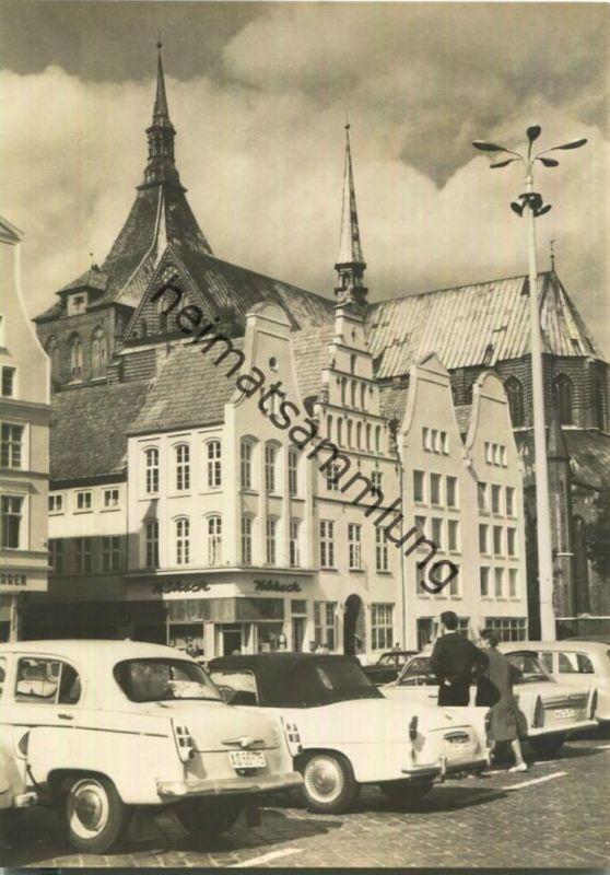 Rostock - An der Marienkirche - Foto-AK Grossformat - VEB Bild und Heimat Reichenbach 60er Jahre