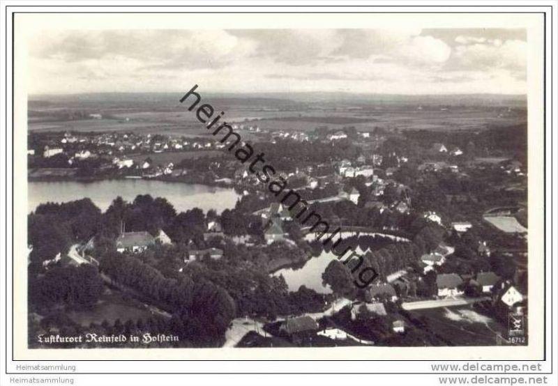 Reinfeld Holstein - Fliegeraufnahme - Foto-AK 30er Jahre