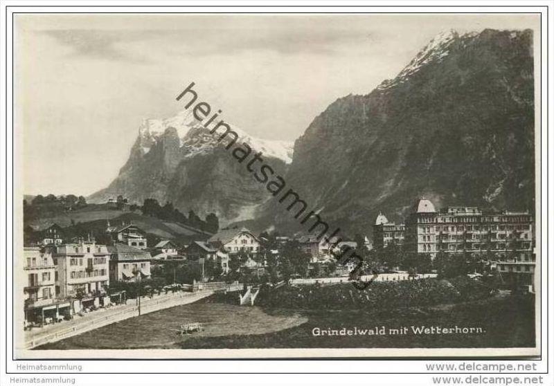 Grindelwald mit Wetterhorn - Foto-AK