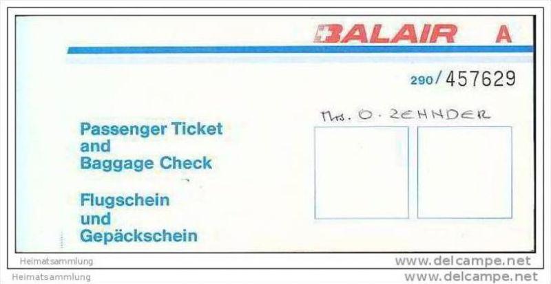 Balair - Zurich Glasgow Zurich