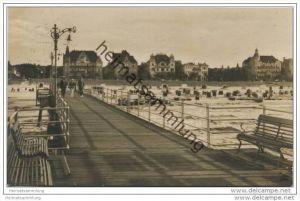 Ostseebad Swinemünde - Blick von der Seebrücke - Foto-AK