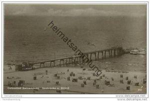 Ostseebad Swinemünde - Seebrücke und Strand - Foto-AK