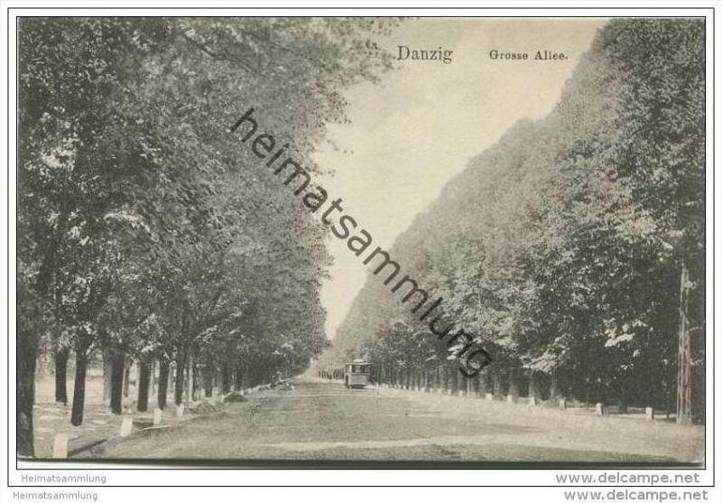Danzig - Grosse Allee ca. 1910
