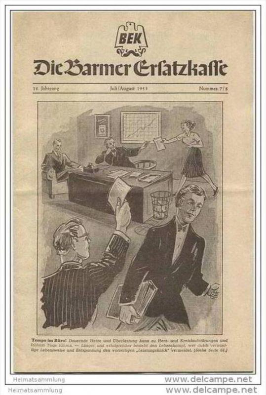 Die Barmer Ersatzkasse - Zeitschrift für Mitglieder Juli August 1953 - 14 Seiten