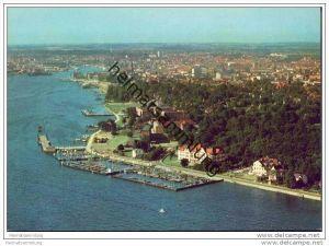 Kiel - Sporthafen Düsternbrook und Stadt - AK-Grossformat