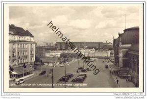 Kiel - Bahnhof mit Abfahrtstelle des Seedienstes Ostpreussen - Fähre Tannenberg - Foto-AK 30er Jahre