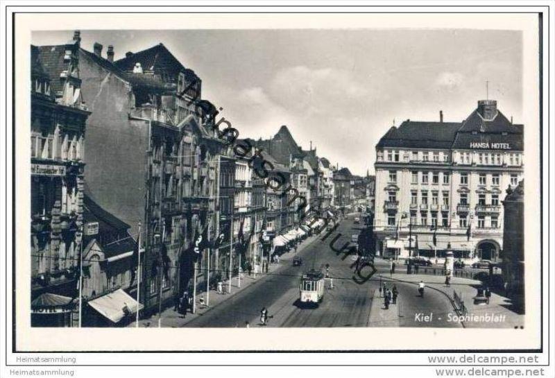 Kiel - Sophienblatt - Strassenbahn - Foto-AK 30er Jahre