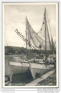 Eckernförde - Fischerboote im Hafen - Foto-AK