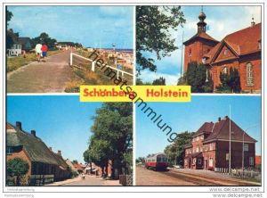 Schönberg Holstein - Kirche - Strassenansicht - Bahnhof - Strand - AK-Grossformat